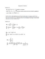 2014 Assignment 2 Solutions