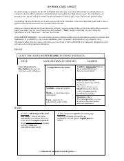 AP bookcard layout and rubric.doc