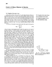 Feynman Physics Lectures V1 Ch19 1962-01-09  Center of Mass Moment of Inertia