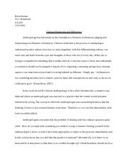 Brent - Anthropology paper 1