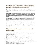 2. Paraphrasing, Quoting, and Summarizing Handout.docx