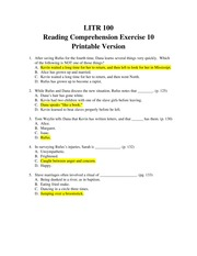 Reading Comp 10-Kindred