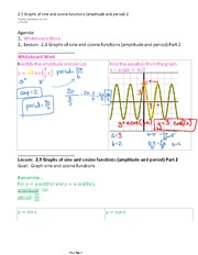 2.3 Graphs of sine and cosine functions (amplitude and period) 2
