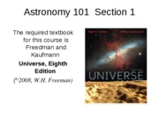 ASTR 101 Lecture 1-2