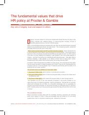 The fundamental values that drive HR policy at Procter & Gamble.pdf