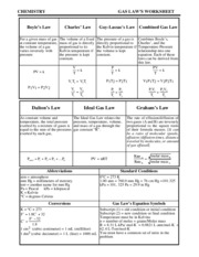 Printables Gas Laws Worksheet gas laws worksheet with answers pdf chemistry boyles law