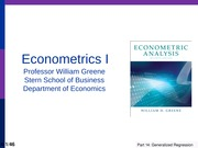 Econometrics - The Generalized Regression Model