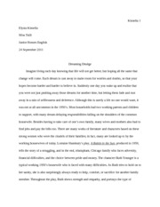 compare and contrast ethan frome kinsella elysia kinsella  8 pages raisin in the sun final essay
