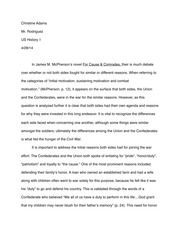 James Mcpherson Final Paper