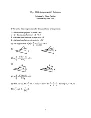 PHYS 2214 Homework 9 Solutions