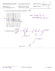 Quiz and Answers Covering Graphin Equations
