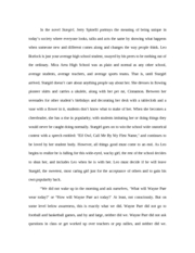 How To Write An Argument Essay Stargirl Paper  In The Novel Stargirl Jerry Spinelli Portrays The Meaning  Of Being Unique In Todays Society Where Everyone Looks Talks And Acts The Sample Personal Experience Essays also Beowulf Epic Hero Essay Stargirl Paper  In The Novel Stargirl Jerry Spinelli Portrays The  Importance Of Reading Essay