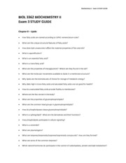STUDY GUIDE test 3 spring 2013