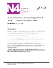 CfE_Unit_N4_AdministrationandIT_CommunicationinAdministration