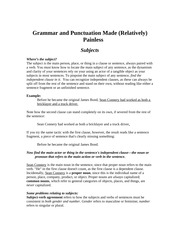GEB 3213 Grammar and Punctuation Guide Fall 2013