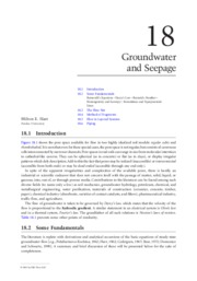 Groundwater and Seepage