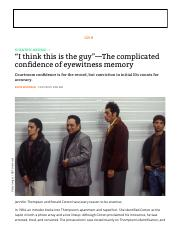 """I think this is the guy""—The complicated confidence of eyewitness memory _ Ars Technica"