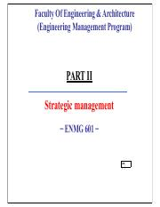 PART II - Intro to Strategic Management - Remastered