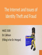 The Internet and Issues of Identity Theft and Fraud.pptx