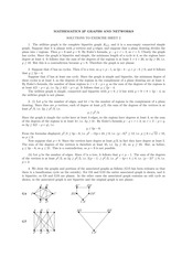 Answers to Exercise 2 on Graphs and Networks (Solutions)