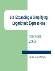 AMT 6.3  Day 2  Expanding  Simplifying Log Expressions.pptx