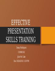 Effectivepresentation skills