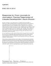Response to_ From Journals to Journalism_ Tracing Trajectories of Literate Development -Kevin Roozin