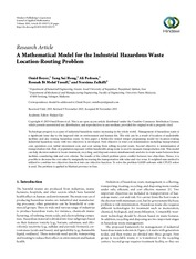 A Mathematical Model for the Industrial Hazardous Waste Location-Routing Problem