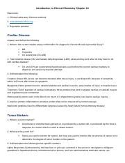 Introduction to Clinical Chemistry Chapter 10_Assignment (1).docx