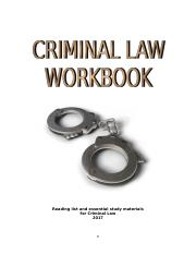 Criminal Law Workbook