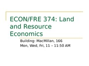 Introduction to econ 374