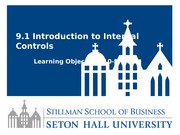 Lesson 9.1 Intoduction to Internal Controls