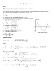 Unit 1 Exam Review Solutions