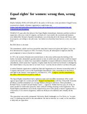 Week 1 Equal Rights - right now wrong then.docx