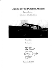 Grand National Dynamic Analysis Project