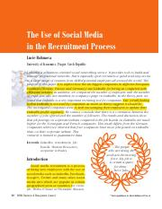 The Use of Social Media in the Recruitment Process.pdf