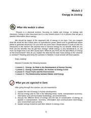 Module 2 Energy in Society