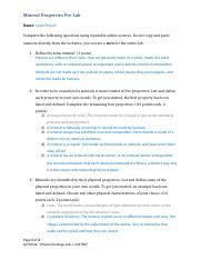 Mineral Properties Worksheet Doc Mineral Properties Worksheet