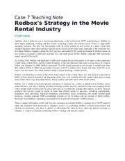 Redbox's Strategy in the Movie Rental Industry