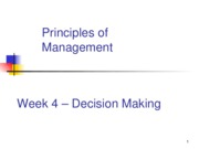 week 4 decision making