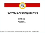 L6 Systems of Inequalities