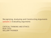 BUSI1010 Chapter 3 - Introduction to arguments