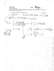 Exam B Fall 2011 Solutions on Calculus