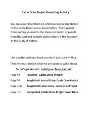 Cattle Drive Project Prewriting Activity.docx