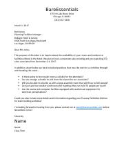 Individual Routine Business Letter