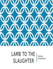 Lamb to the Slaughter.pptx