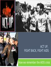 3-03 AIDS Activism & ACT UP