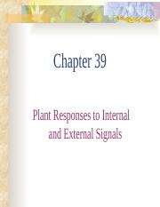 Chapter 39 Plant Signals