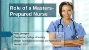 GRADED_Dhingani Parita Role of a Masters-Prepared Nurse