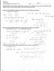 MAT121A_Summer_2012_Inclass03_(2.3-2.4)-KEY